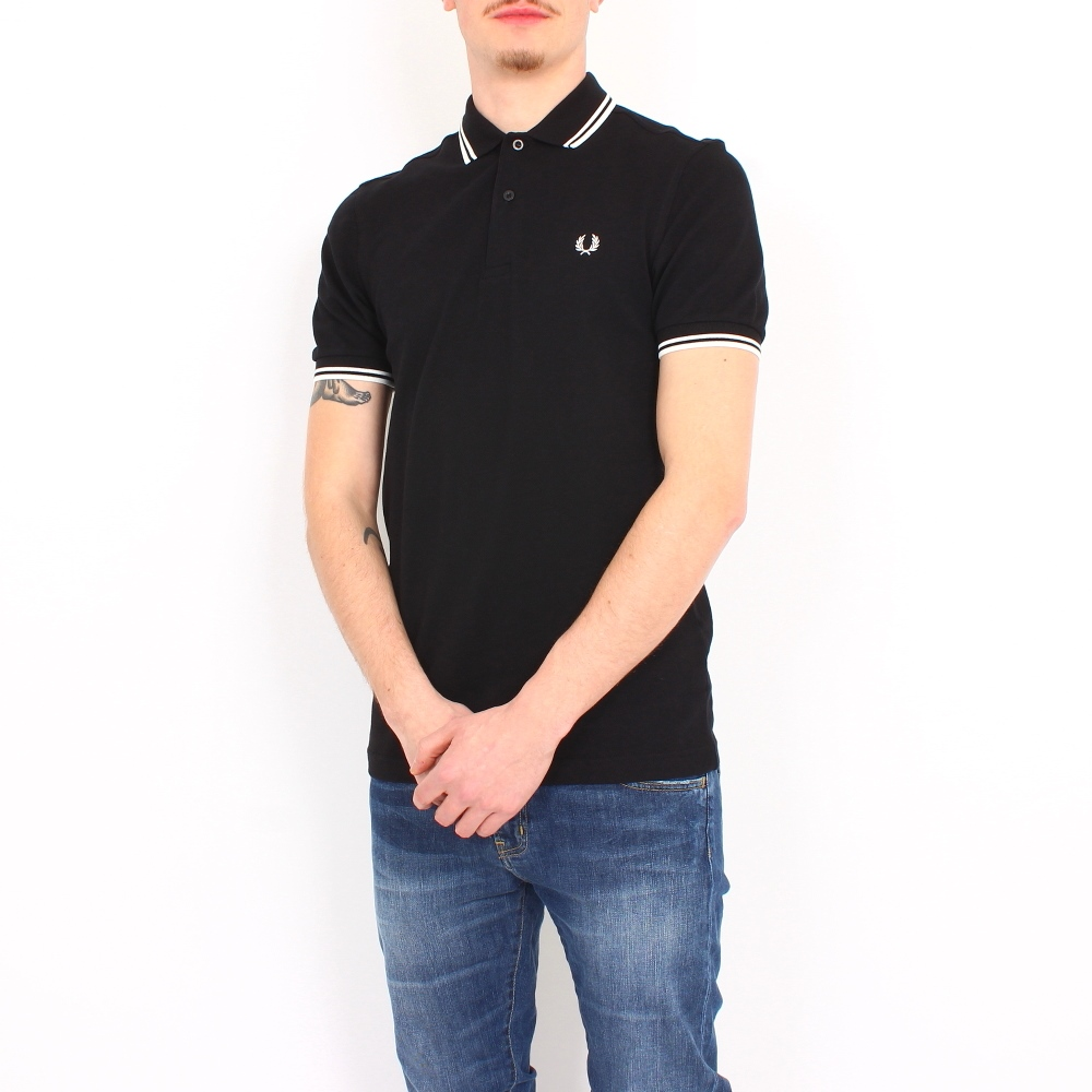 slim fit twin tipped polo shirt gr e xxl farbe schwarz. Black Bedroom Furniture Sets. Home Design Ideas